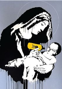 Banksy Baby Poison metal sign   380mm x 280mm  (2f)